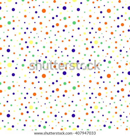 Seamless vector pattern with dots. Colorful background.
