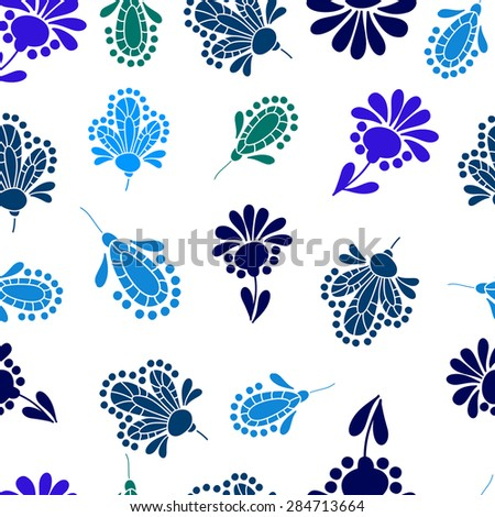 Seamless vector pattern with floral elements. Perfect for greetings, invitations or announcements.