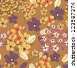 Seamless vector pattern with floral texture - stock vector