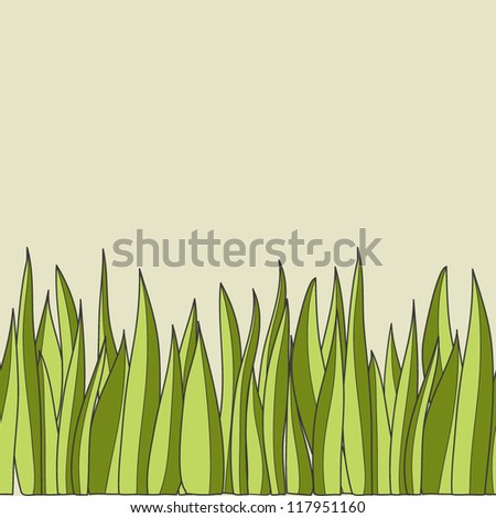 Seamless vector pattern with grass