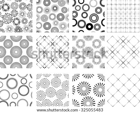 Seamless Vector Pattern with Halftone Dots . Background . Vector Illustration .