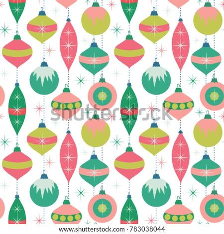 Seamless vector pattern with ornaments on the white background.