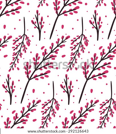 Seamless vector pattern with stylized sakura flowers for your design