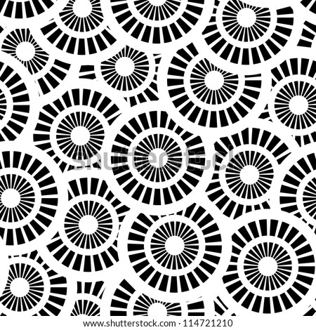 Seamless vector pattern with white and black circles EPS8 - stock vector