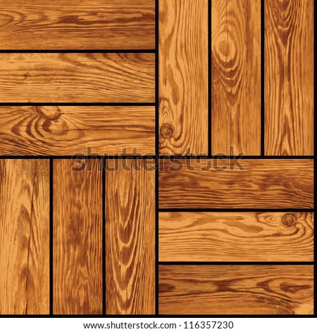 Seamless vector realistic texture - wooden parquet - stock vector