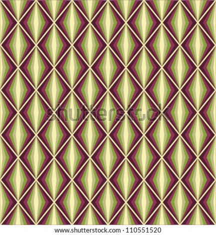 Seamless vector retro harlequin background - stock vector