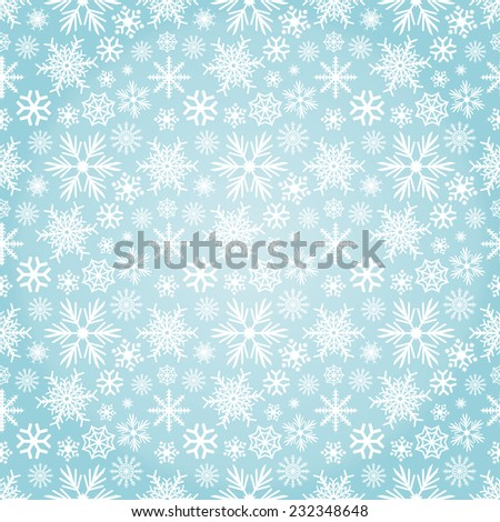 Seamless Vector Snowflakes Pattern - stock vector