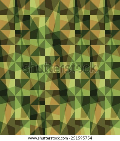 Seamless vector square camouflage series in the green scheme