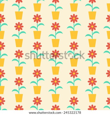 Seamless vector texture with abstract floral elements