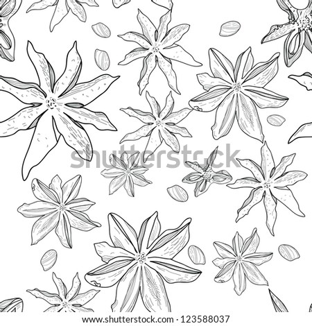 Seamless vector texture with anis