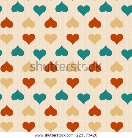 Seamless vector texture with colorful hearts
