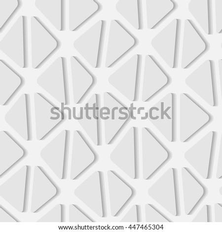 Seamless vector texture with 3d grey triangle tiles - stock vector