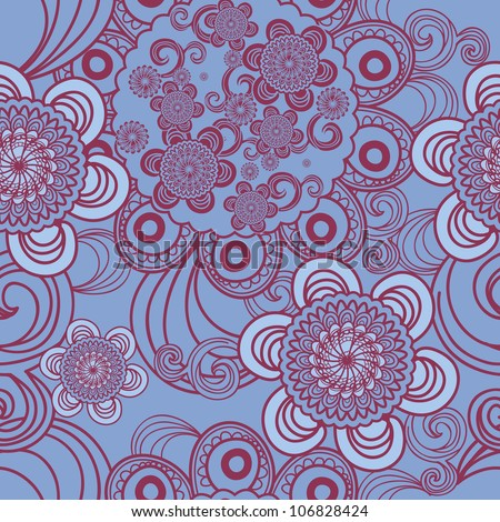 Seamless vector texture with indian pattern