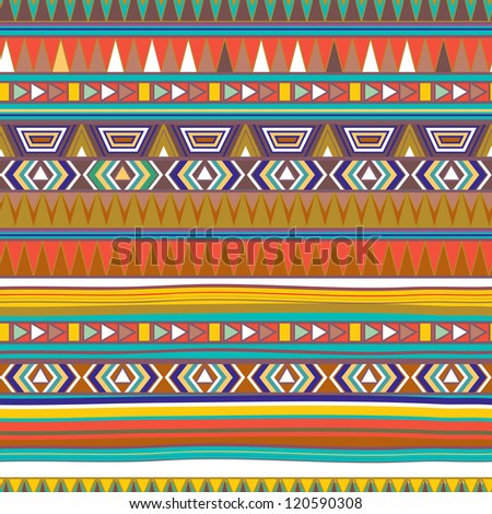 Seamless vector texture with tribal pattern