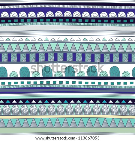 Seamless vector tribal pattern