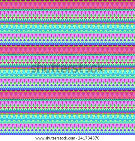 seamless vector tribal striped pattern. small geometric details, colorful background for fashion, interior, stationery.  - stock vector