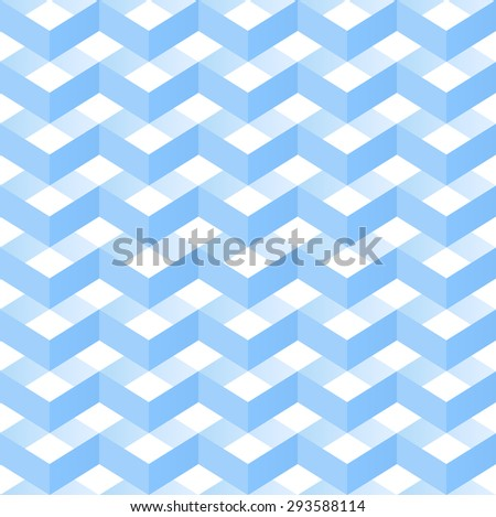 Seamless Vector Wave Pattern. Abstract Blue background. Seamless Zigzag pattern.  Geometric Pattern. Vector Regular Texture - stock vector