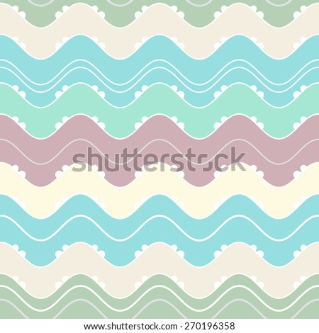 Seamless vector wave texture