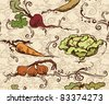 seamless vegetable pattern - stock vector