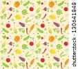 seamless vegetable texture vector illustration. Vector Illustration. - stock photo
