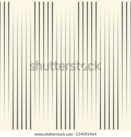 Seamless Vertical Line Pattern. Vector Black and White Stripe Background. Wrapping Paper Texture. Abstract Minimal Geometric Graphic Design