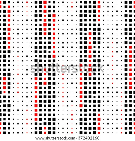 Seamless Vertical Stripe Pattern. Vector Black and Red Background - stock vector