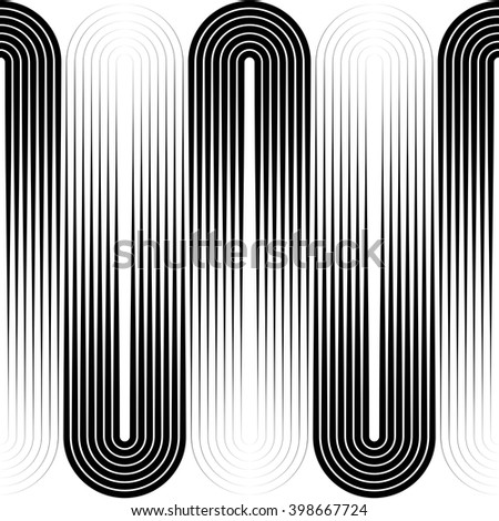 Seamless Vertical Stripe Pattern. Vector Black and White Background - stock vector