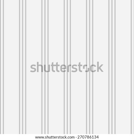 Seamless Vertical Stripe Pattern. Vector Soft Background. Regular White Texture - stock vector