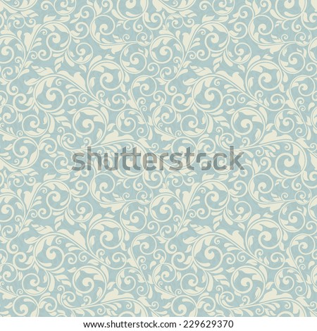 seamless victorian pattern - stock vector