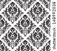 Seamless victorian pattern isolated on white - stock photo