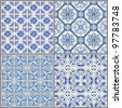 Seamless Vintage Background Collection - Victorian Tile in vector - stock vector