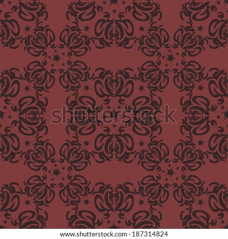 Seamless vintage background Vector background for textile.