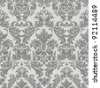 Seamless vintage background  Vector background for textile design.  Wallpaper, background, baroque pattern - stock photo