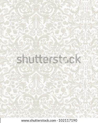 Seamless vintage background  Vector background for textile design.  Wallpaper, background, baroque pattern - stock vector