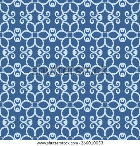Seamless vintage background with ornament. Wallpaper pattern