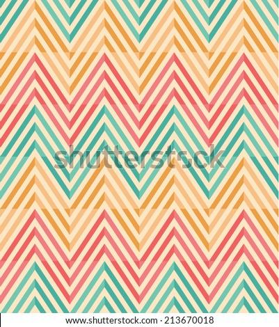 Seamless  vintage chevron pattern background - stock vector