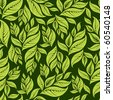 Seamless vintage floral pattern with leafs (From my big