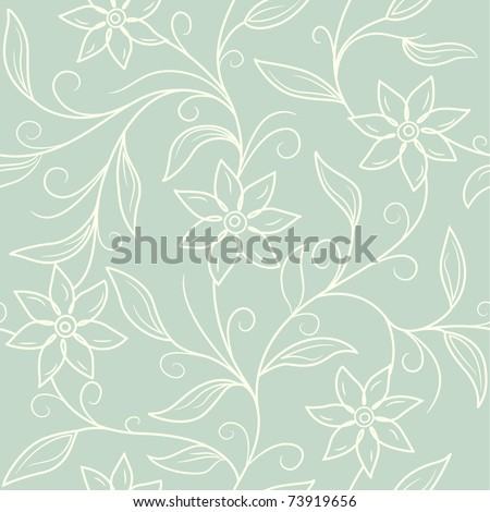 seamless vintage frolar background - stock vector