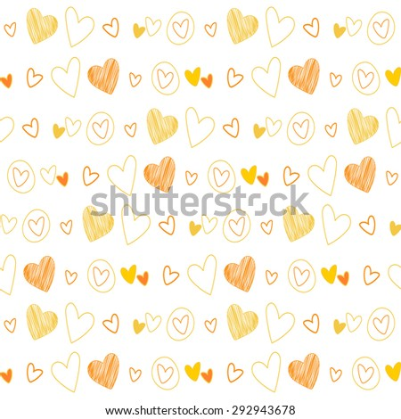 Seamless vintage heart background. Great for Baby, Valentine's Day, Mother's Day, wedding, scrapbook, surface textures. - stock vector