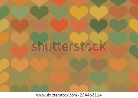 Seamless vintage heart pattern background. seamless pattern of hearts in vintage style - stock vector