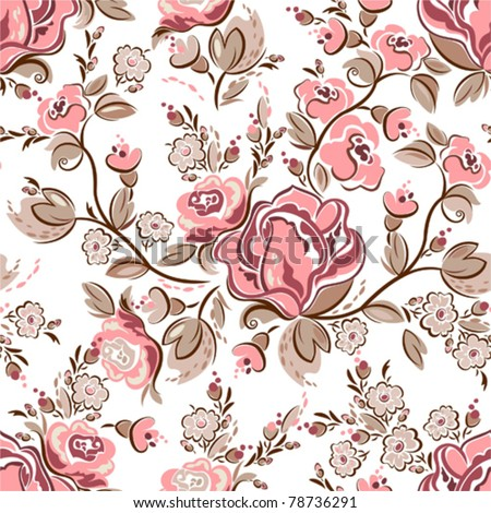 Seamless vintage pattern - stock vector