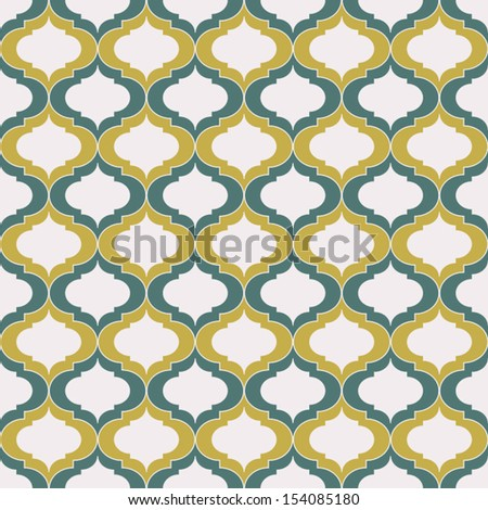 Seamless vintage  pattern.Abstract background. Wallpaper vector illustration - stock vector
