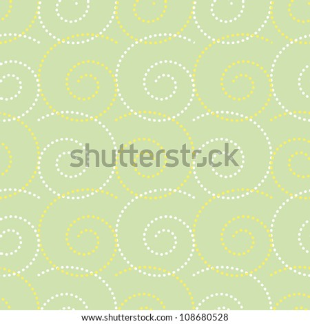 Seamless vintage pattern/background with curls