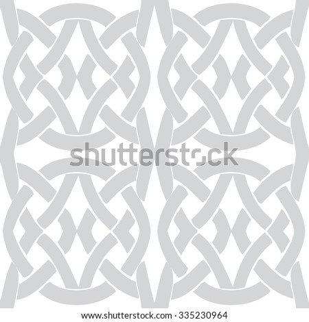 Seamless vintage pattern. Ethnic vector textured background from Byzantine - stock vector