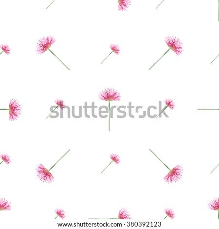 Seamless vintage pattern with watercolor pink flowers. Sloppy strokes of a paint.Vector design for background, textile on Women`s Day, Happy Easter, Happy Birthday, wedding and others