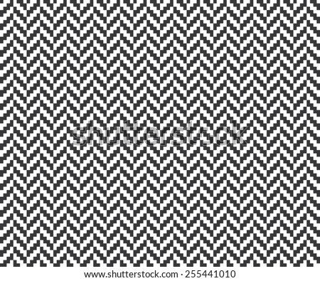 Seamless vintage pixel herringbone pattern - stock vector