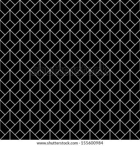 seamless vintage retro background with cube - stock vector