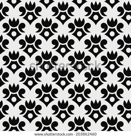 Seamless vintage wallpaper background for design. Vector illustration. - stock vector