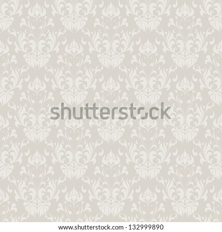 Seamless vintage wallpaper pattern. Abstract floral ornament. Vector illustration. - stock vector