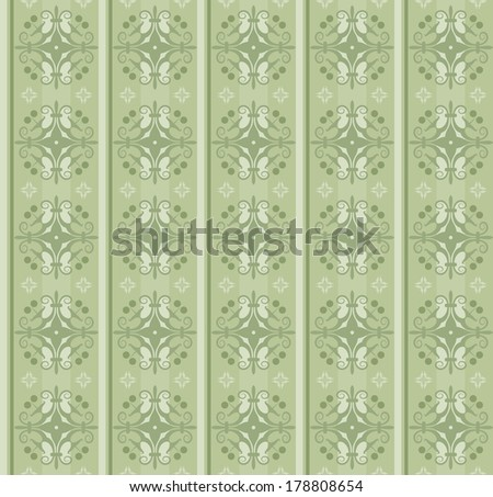 Seamless Vintage Wallpaper Pattern. vector